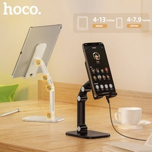 HOCO Metal Desktop Tablet Holder Foldable Extend Support Desk Mobile Phone Holder Stand Adjustable for iPhone iPad Xiaomi Table