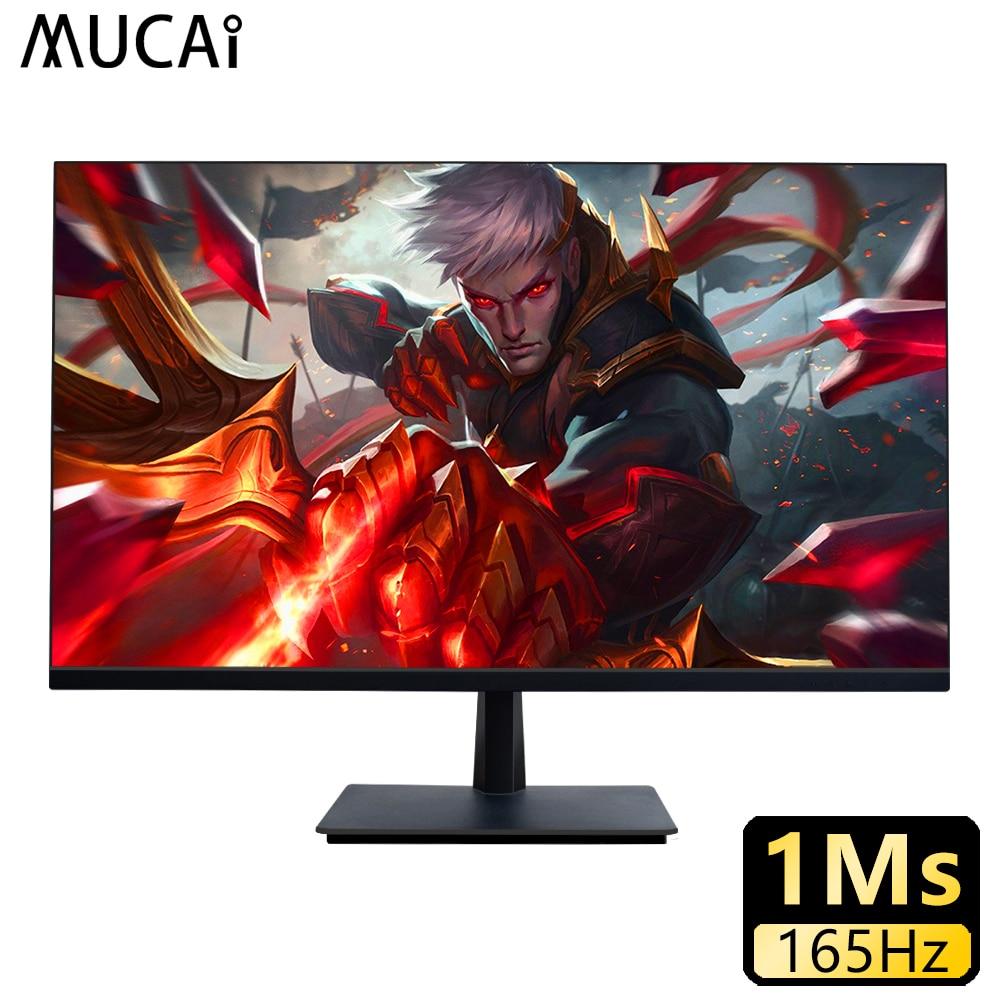 MUCAI 27 بوصة شاشة كمبيوتر شخصي 144Hz IPS شاشة الكريستال السائل HD سطح المكتب كمبيوتر ألعاب شاشة مسطحة HDMI/DP