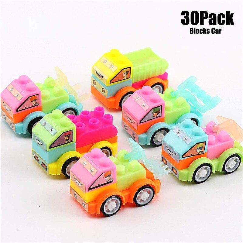 30PCS Educational Toy Cars Party Favor Mini   Set for Boys Kids Child Birthday Play Plastic Vehicle (Random Color)