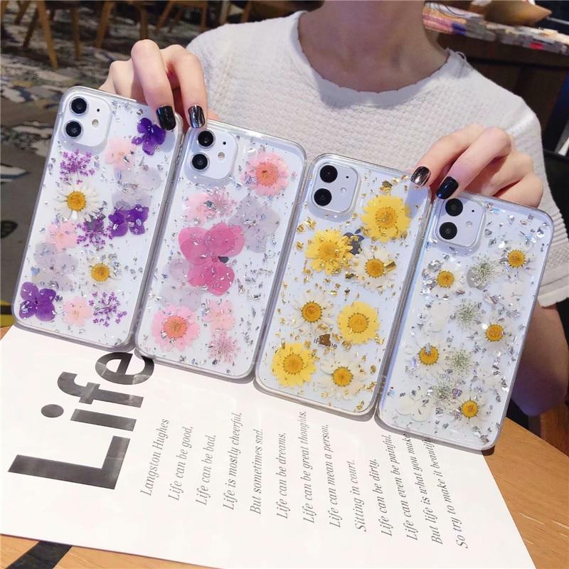 Iris pansy flor real roxo floral celular caso capa para iphone 11 pro max xs max xr xs x 7 8 plus