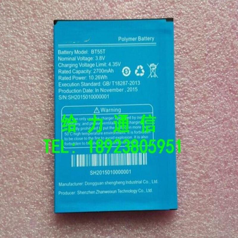 Cep telefonu pil BT55T 2700mAh Zopo 999 998 ZP999 3X ZP3X zp998 cep telefonu pil telefonu stander hediye için