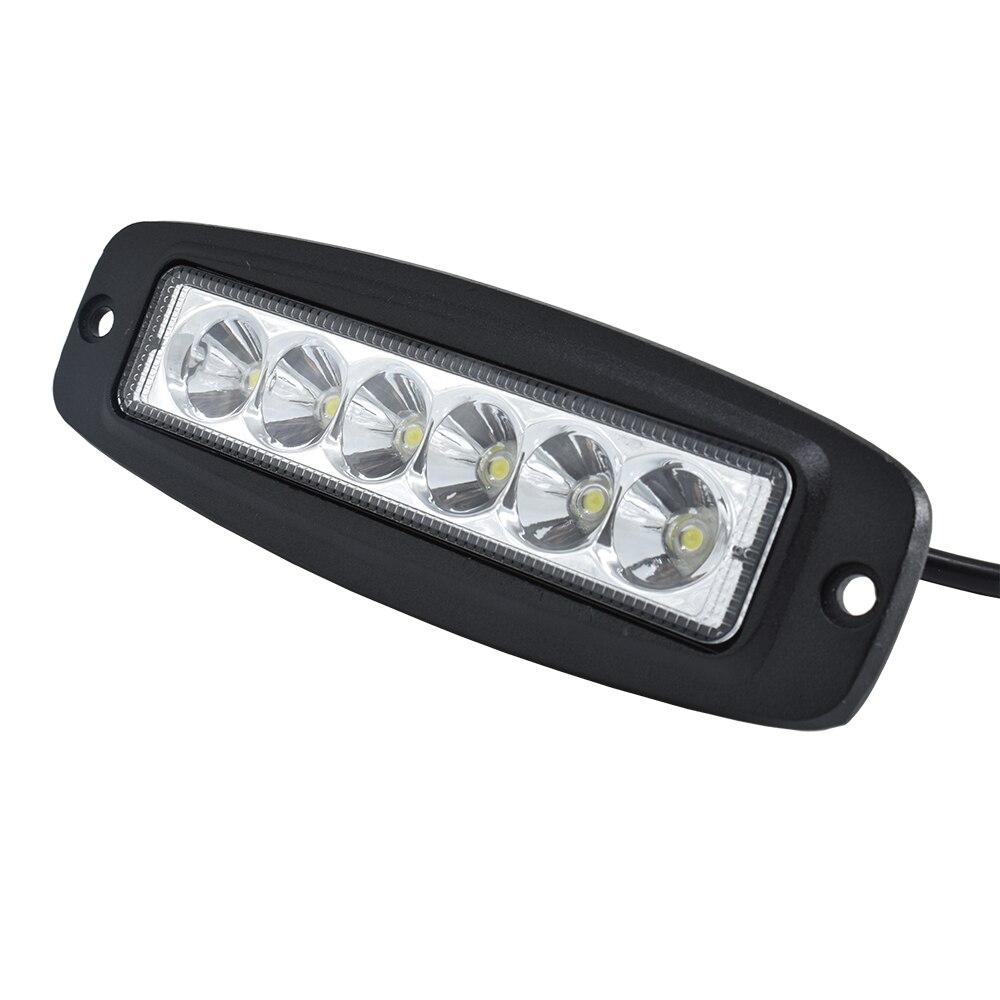 ECAHAYAKU-Barra de luz Led de obra de 7 pulgadas, montaje empotrado resistente...