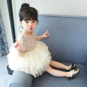 Fashion influx of children's clothing summer new girls mesh dress fashion trend children's cake  show  princess dress