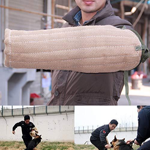 Cão mordida manga dupla camada filhote de cachorro jovens cães treinamento para pastor alemão filhote de cachorro mordendo jogando