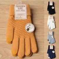 women men winter touch screen gloves warm crochet knitted full finger mittens winter guantes female crochet 20 5cm12cm