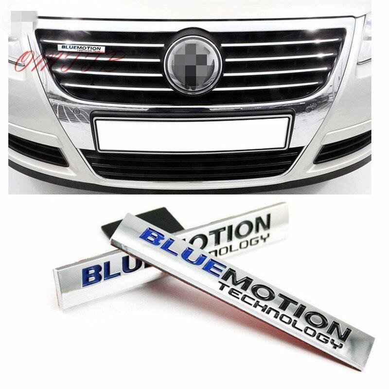 2 uds 3D de BLUEMOTION trasera etiqueta engomada emblema de parrilla delantera auto-estilo para Volkswagen VW GOLF, TIGUAN AUDI etiqueta engomada del coche