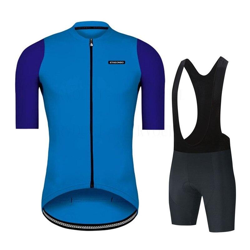 Etxeondo ropa Kits de camisetas de Ciclismo azul de verano de manga...