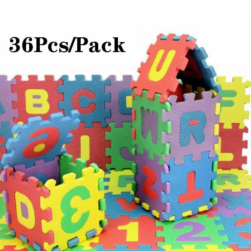 36pcs Alphabet Numbers Play Mat Children Soft EVA Foam Floor Carpet  Puzzle Play Baby Rugs Anti-Slip Exercise Gym Mats
