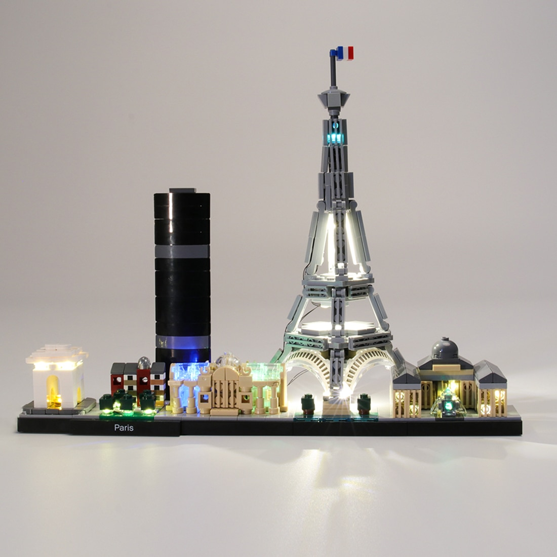 Kit de iluminación USB para arquitectura Paris 21044 (solo luz LED, sin Kit de bloqueo)