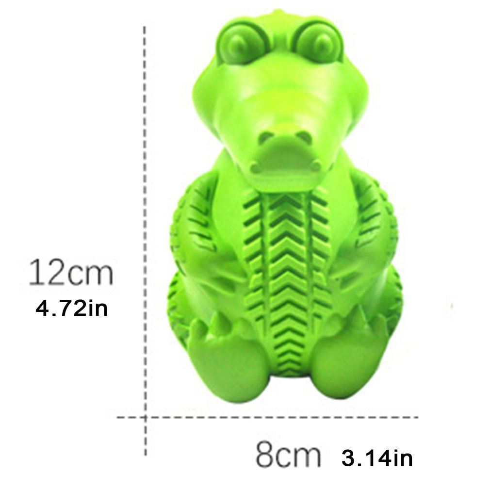 Food Distribution Aggressive Dinosaur Bite Resistant Rubber Indestructible Interactive Toothbrush Teeth Cleaning Dog Chew Toy