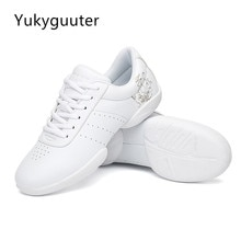 Kids' Sneakers Children's Competitive Aerobics Shoes Soft Bottom Fitness Sports Shoes Jazz Modern Sq