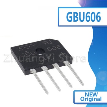 5pcs/lot New spot GBU606 DIP4 rectifier bridge bridge pile flat bridge
