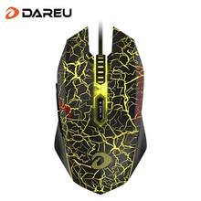 DAREU EM915 souris de jeu 30 millions de vie souris filaire optique 7 boutons avec rétro-éclairage et pilote de souris pour ordinateur PC portable Gamer
