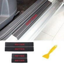4 pièces/lot autocollant de seuil de porte de voiture pour Peugeot Rifter seuil de porte de voiture protecteur de pédale autocollants accessoires intérieurs