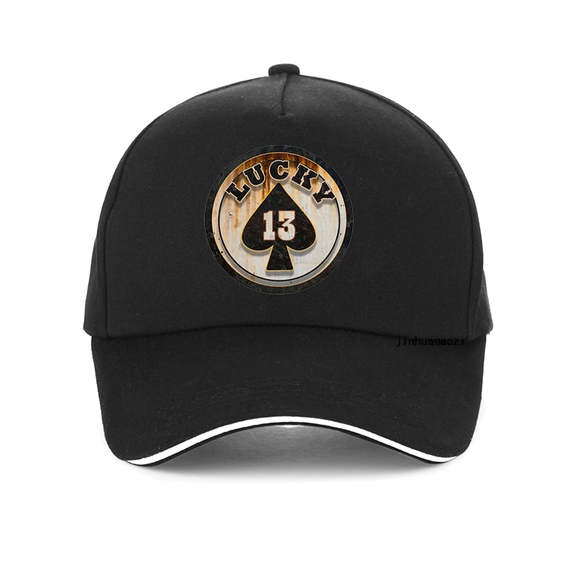 Summer Visor cap Lucky Number 13 Poker Print Baseball Cap Adjustable Snapback Hats For Men Women Hip Hop Outdoors Sun Caps