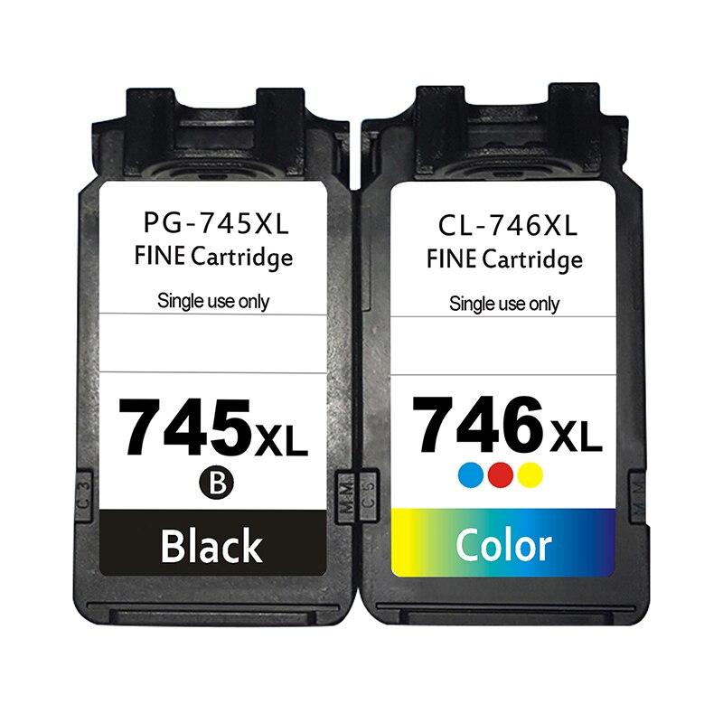 Substituição do cartucho de tinta para canon pg 745 xl cl 746 xl tinta se encaixa 745 746 canon pixma mg2470 mg2570 mg2970 ip2870 ip2872 impressora