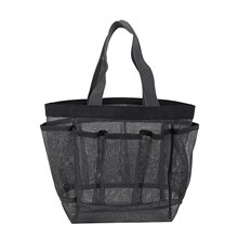 Mesh Shower Caddy Portable for College Dorm Large Bathroom Tote Bag Durable with 8 Pockets Bathroom