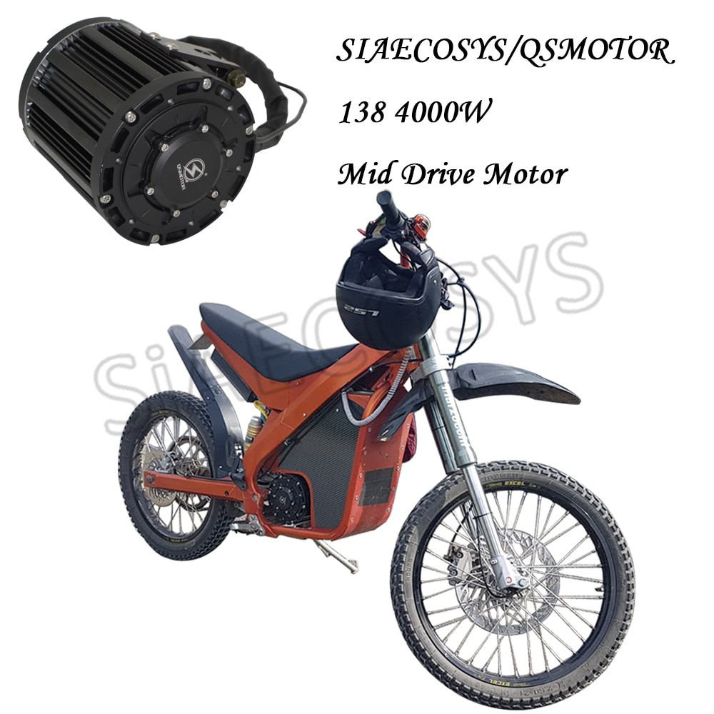 QS 138 90H 4000W Mid Drive Motor 7500W Max Continous With EM Controller DKD Display For Electric Dirty Bike enlarge