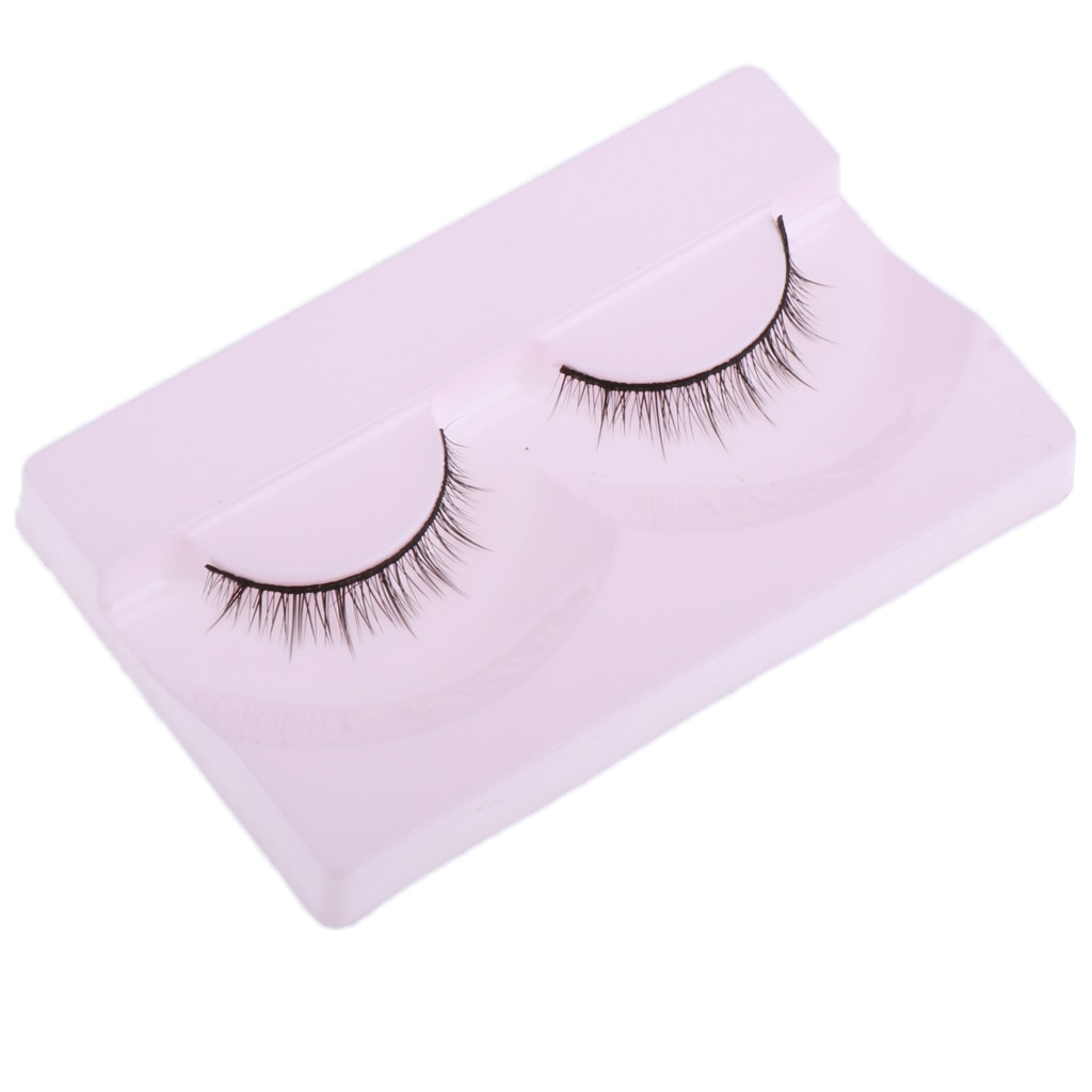 2x 1:4 Scale  Girl Dolls 3cm Exquisite Curly Eyelashes DIY Makeup Accessory