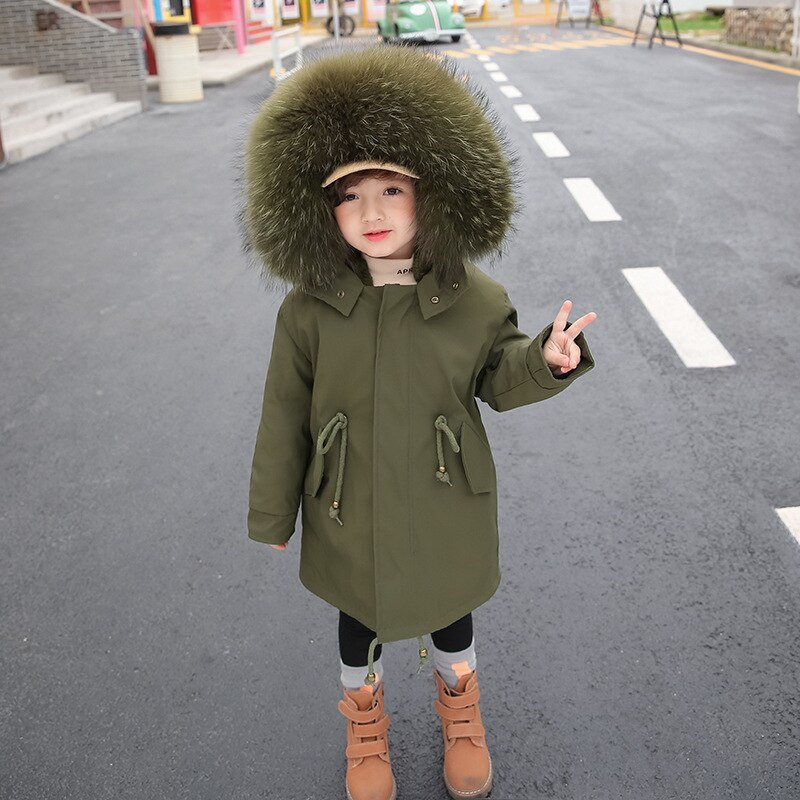 Winter Fur Warm Boy Snow Jackets Hooded Windproof Baby Girl Coats Fashion Sport Children Outerwear Teenage Kids Wool Parkas enlarge