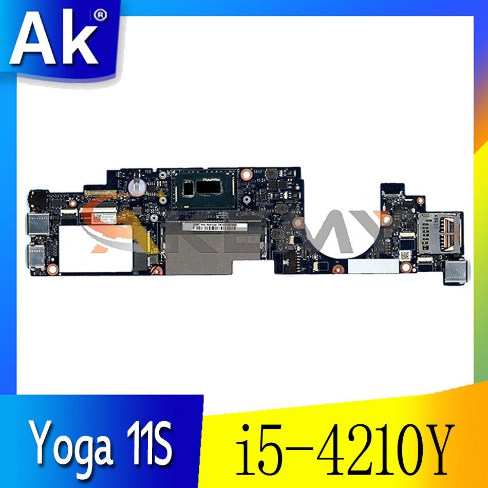 لينوفو اليوغا 11S اللوحة الأم للكمبيوتر المحمول AIUU0 NM-A191 اللوحة الأم 90004935 وحدة المعالجة المركزية i5-4210Y DDR3L اختبار 100% اللوحة الرئيسية العمل