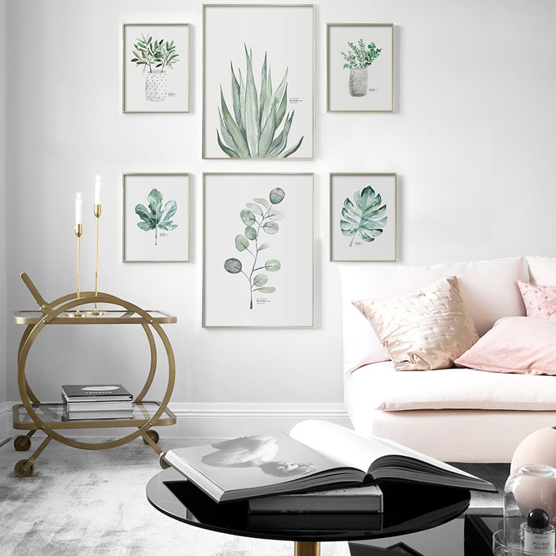 Green Plants Wall Poster Succulents Aloe Print Leaves Painting Nordic Posters And Prints Modern Pictures For Living Room Decor