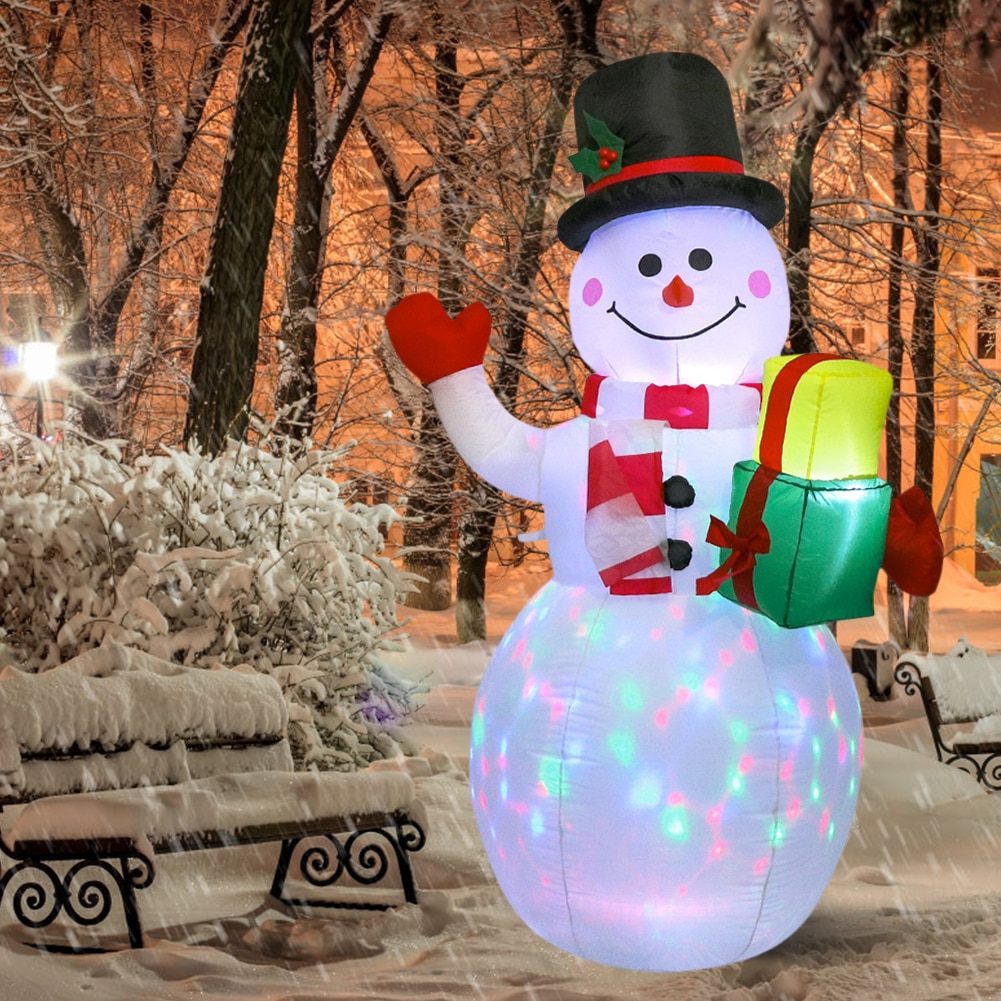 مضخة هواء قابلة للنفخ على شكل ثلج بإضاءة LED 150 سنتيمتر ، ألعاب داخلية وخارجية ، زينة احتفالية لعيد الميلاد ورأس السنة الجديدة