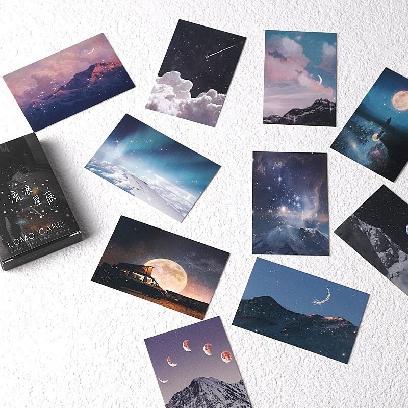 28-lenzuola-set-errante-stelle-lomo-carta-cartone-animato-mini-cartolina-messaggio-carta-di-regali-di-natale