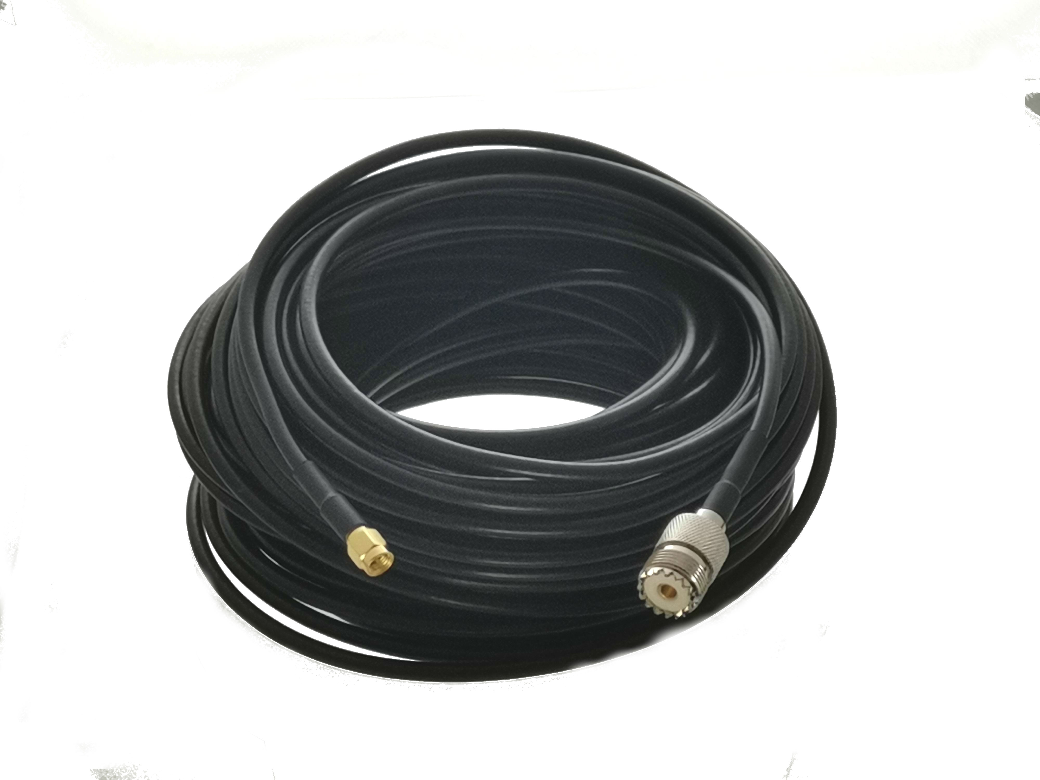 1 Uds Cable SMA macho a SO239 UHF mujer RG58 puente Coaxial...
