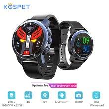 Смарт-часы KOSPET Optimus Pro, 3 ГБ, 32 ГБ, 4G, Android 7,1, 800 мАч, водонепроницаемый IP67, WiFi, GPS, Smatwatch для IOS Android