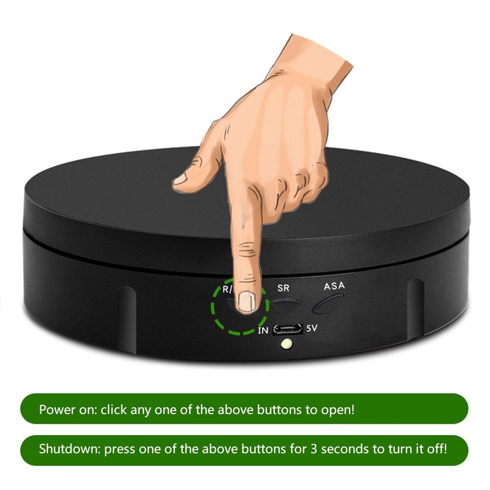 3 سرعة الكهربائية حامل شاشة دوار 360 درجة الدورية ذكي الدوار مجوهرات عرض موقف للتصوير الفوتوغرافي تصوير الفيديو