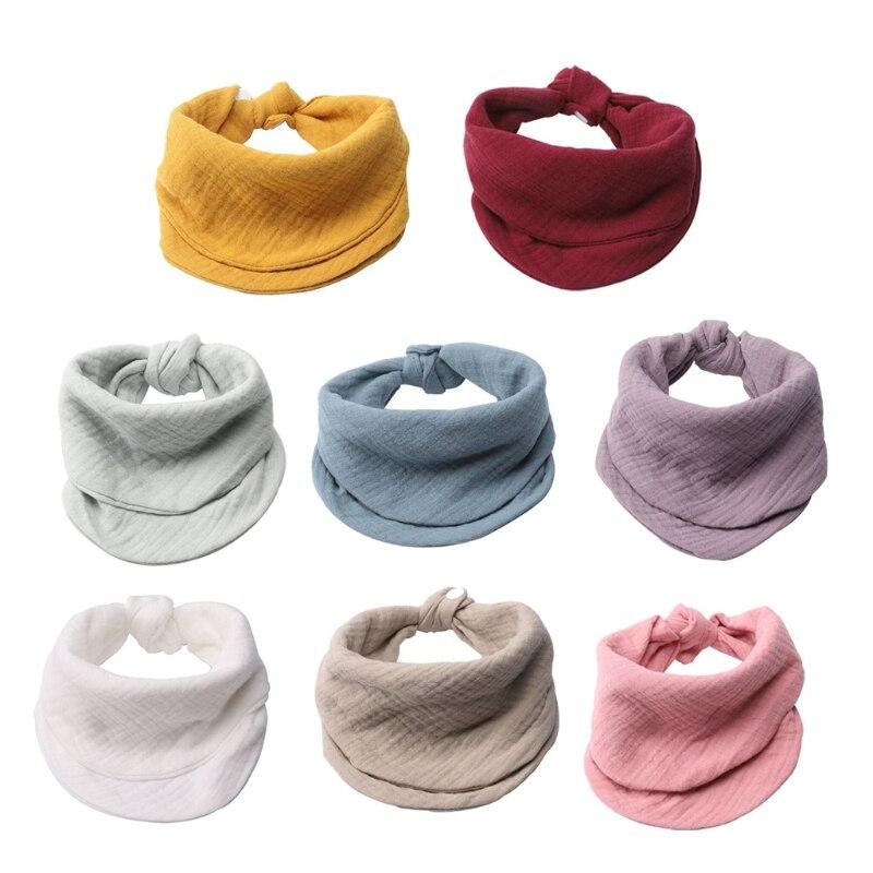 Марлевые детские нагрудники для новорожденных мальчиков и девочек, бандана, хлопковый мягкий шарф для малышей, слюнявчик для младенцев, пол...