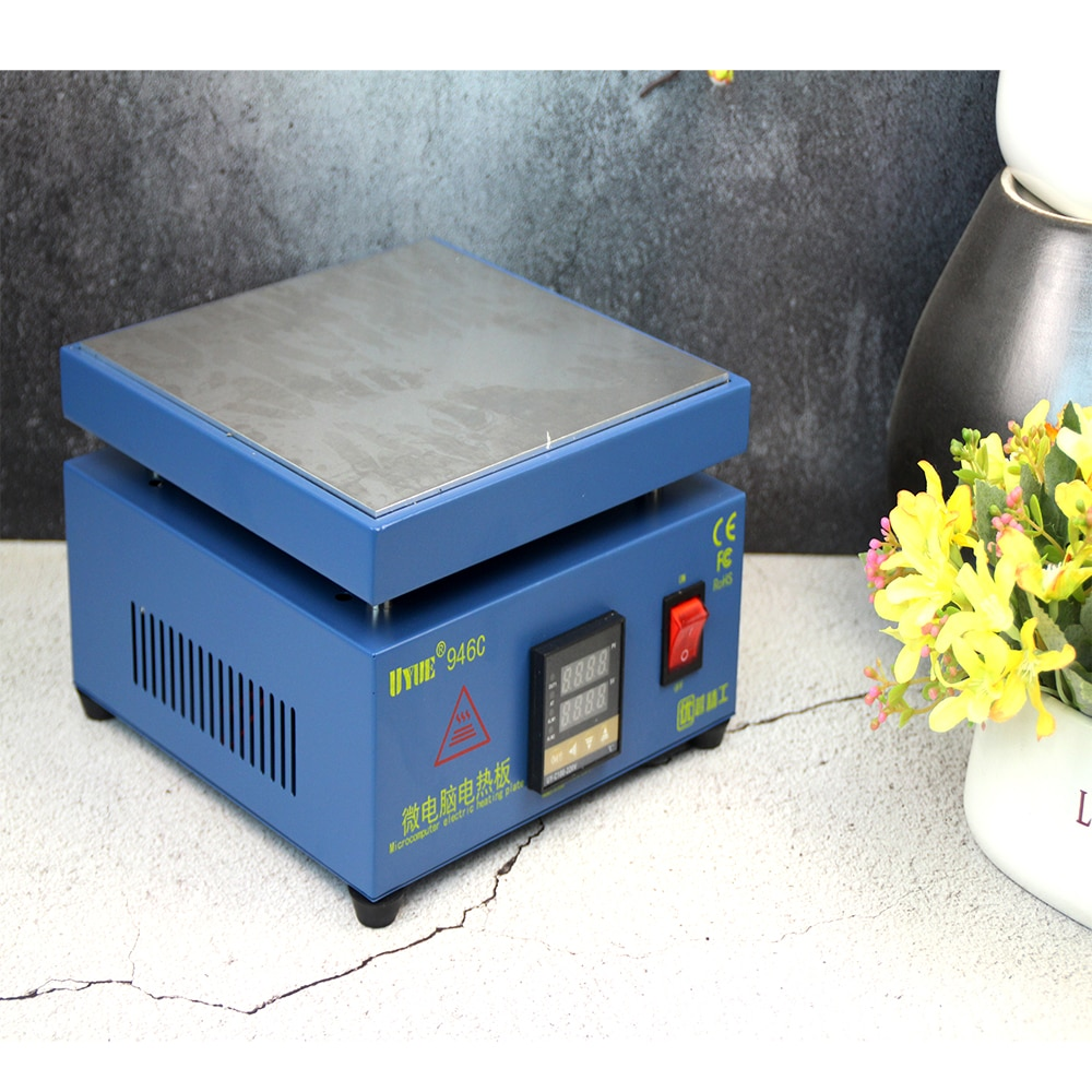 Ukraine stock UYUE 946C Electronic Hot Plate LCD Digital Display Preheating Station for PCB SMD LCD touch screen separate