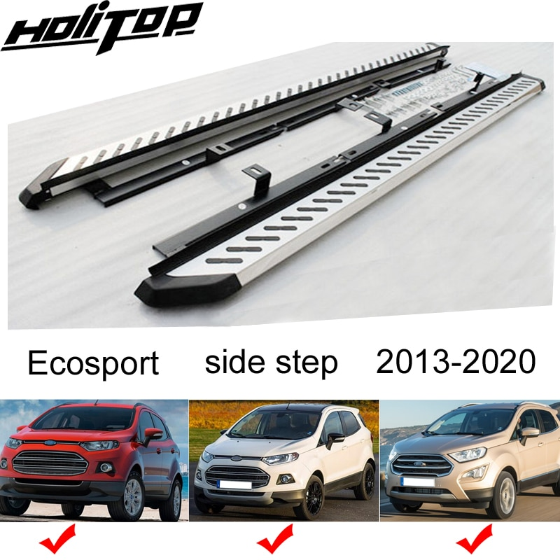 Nova chegada quente barra lateral passo placa running para ford ecosport 2013-2020, carregamento poderoso, vendedor superior. garantia de qualidade.