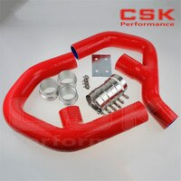 טורבו סיליקון INTERCOOLER צינור עבור פולקסווגן גולף MK5 MKV GTI 2.0 FSi T 06-09 + מלחציים אדום