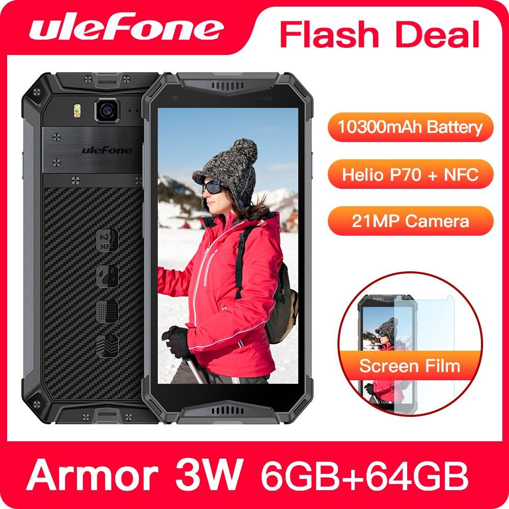 Перейти на Алиэкспресс и купить Ulefone power 3 Вт прочный смартфон Android 9,0 IP68 5,7 дюймHelio P70 6G + 64G 10300 мА/ч, мобильный телефон, 4G мобильный телефон с двумя sim-картами Android