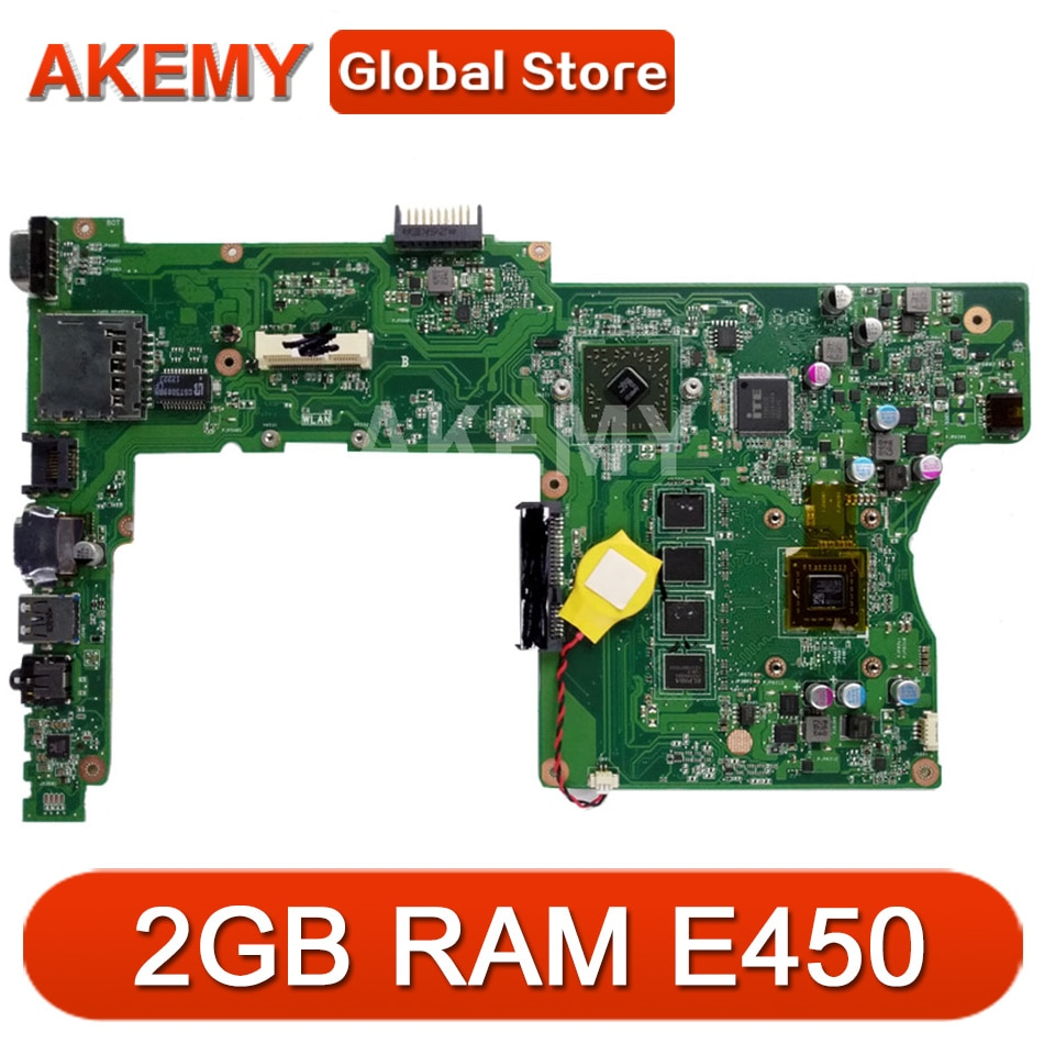 X401U-M3 2GB RAM E450 CPU placa-mãe REV2.0 para ASUS X401U X501U X301U Laptop placa-mãe 90R-N4OMB1400U 100% testado