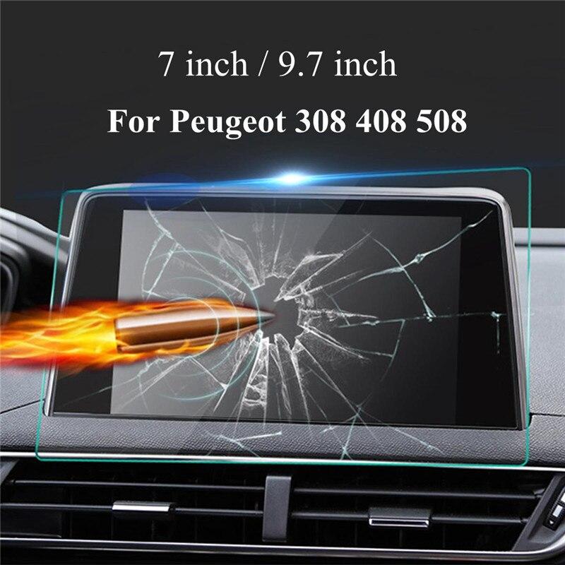 8 pulgadas de navegación GPS Pantalla de acero templado de película protectora para Peugeot 308, 408, 508, 208, 308 de acero película para nueva Energía de navegación