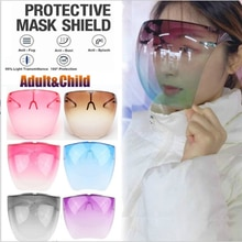 2021 Colorful Transparent Protective Mask Full Face Shield Unisex Dustproof Anti-Spray Mask Visor Sa