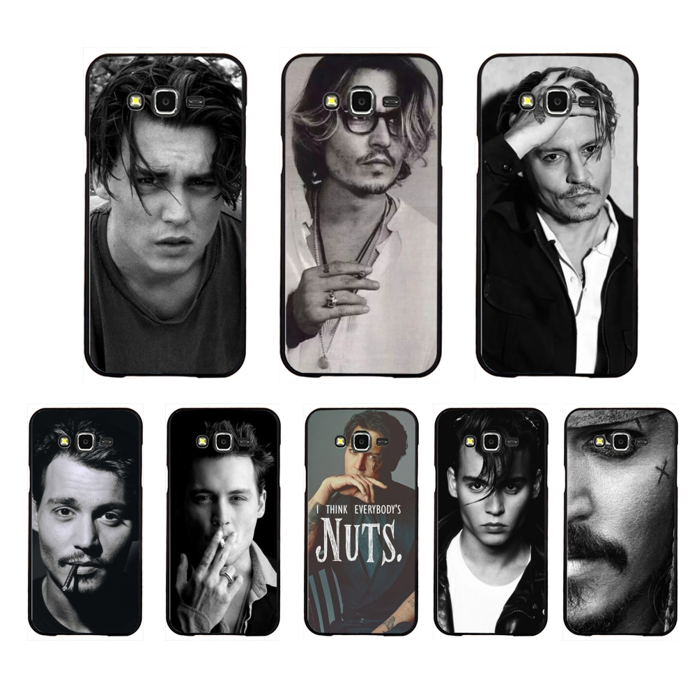 NBDRUICAI Johnny Depp Coque Customer High Quality Phone Case For Samsung Galaxy J7 J8 J3 J4 J5 J6 Plus 2018 Prime