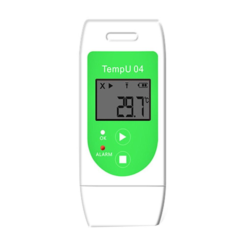 Registrador de datos PDF Puerto USB LCD Diaplay grabadora de temperatura alta precisión medición alarma Sensor interno interior al aire libre portátil