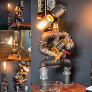 Steampunk Industrial Lamp Wine Dispenser Bar Supplies Home Decor Best Price