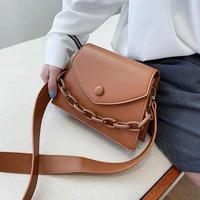 chain new crossbody small bags shoulder simple bag female luxury handbags design pu leather for women 2020 summer flap single