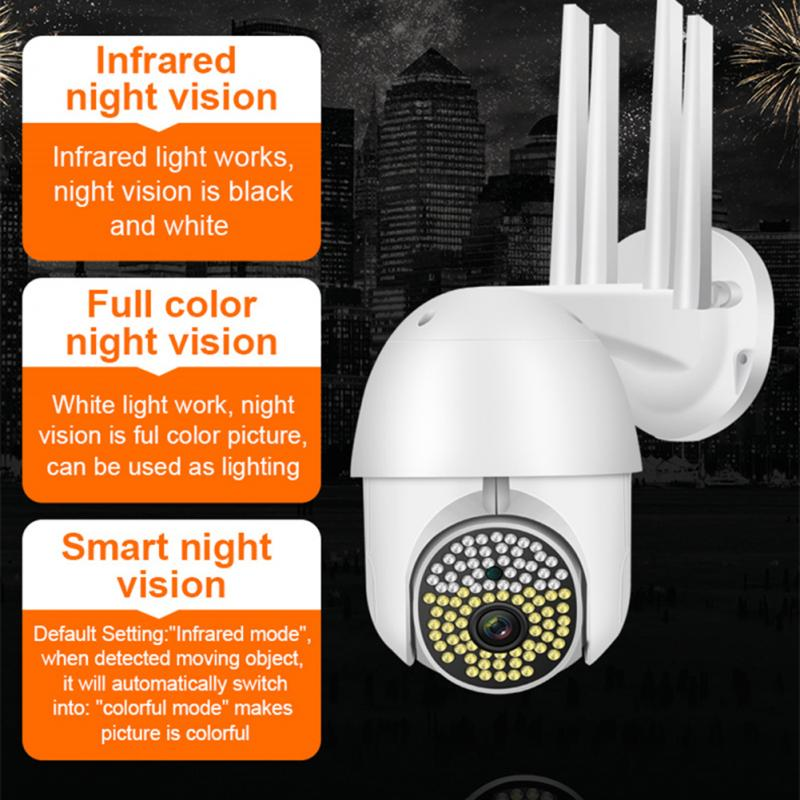 1080P PTZ واي فاي كاميرا IP في الهواء الطلق 360 درجة AI الإنسان كشف كاميرا لا سلكية H.264 P2P الصوت 4MP الأمن مراقبة كاميرا CCTV