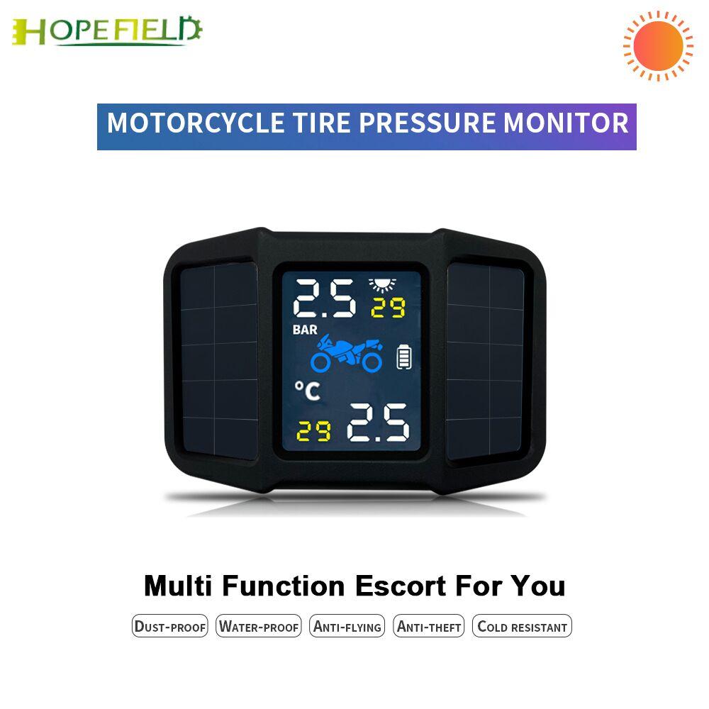 نظام مراقبة ضغط الإطارات بالطاقة الشمسية ، ملحقات إلكترونيات الدراجات النارية ، إنذار أمان درجة الحرارة TPMS ، مستشعر خارجي