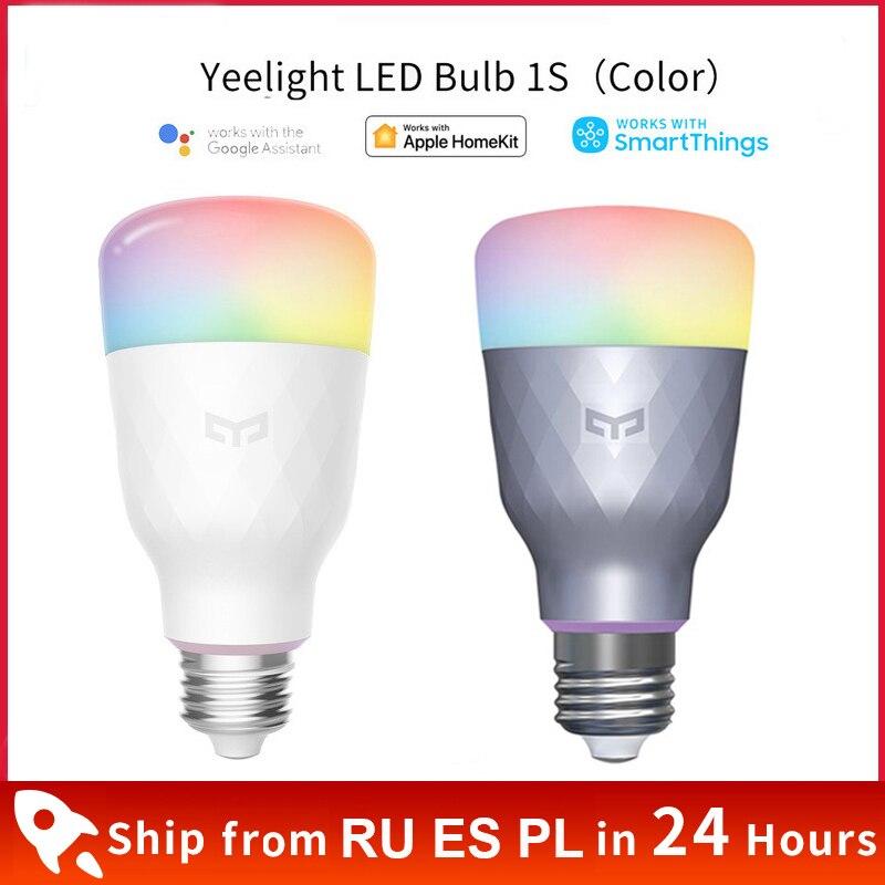 Xiaomi Yeelight-لمبة إضاءة LED ملونة 1S ، E27 ، 1SE ، مفتاح باهتة ذكي ، خيار RGB/أبيض