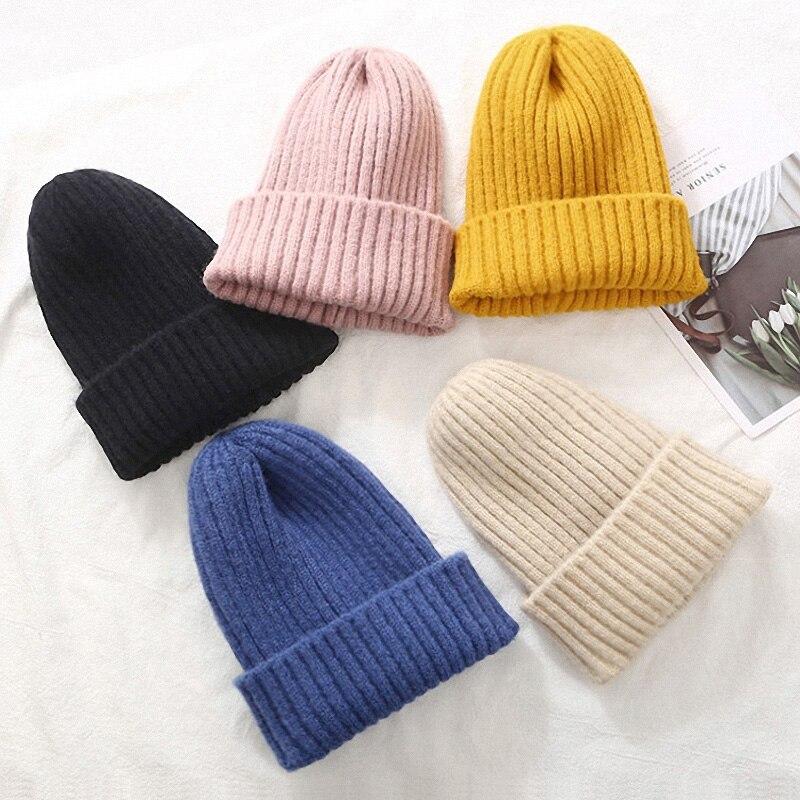 Mode Frauen Beanie Hut Gestrickte Winter Hut Frauen Verdicken Warme Winter Hüte Für Frauen Beanies Damen Weiche Winter Kappe 2020