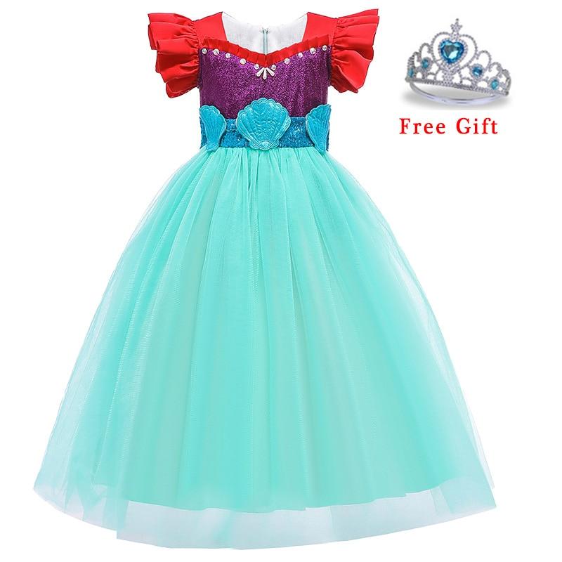 Baby Girl Dress New Princess Queen Birthday Party Cosplay Sequins Long Dress Flower Girl Halloween Eucharist Party Evening Dress