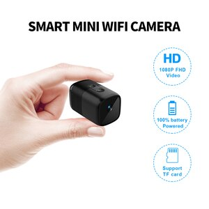 ZGWANG Mini WIFI Battary IP Camera HD 1080P Wireless Indoor Camera Night Vision Audio Video Monitor Small Home Surveillance