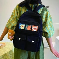 2021 fashion women backpack for cute girl nylon schoolbags casual female large capacity bookbag ladies anti theft travel mochila
